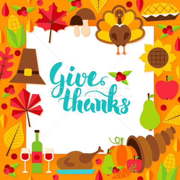 Give Thanks Paper Template Stock photo © Anna_leni