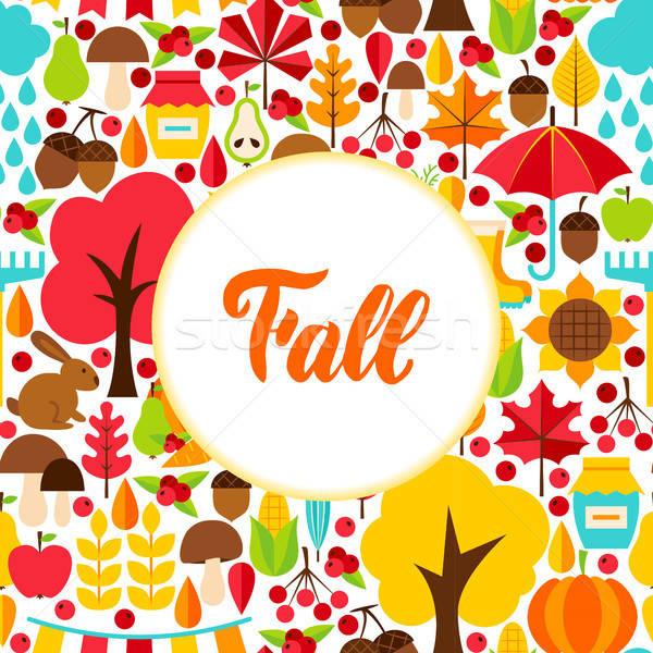 Flat Fall Seasonal Greeting Stock photo © Anna_leni