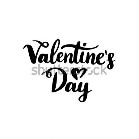 Stock photo: Valentines Day Handwritten Lettering