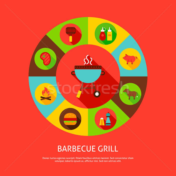Concept Barbecue Grill Stock photo © Anna_leni