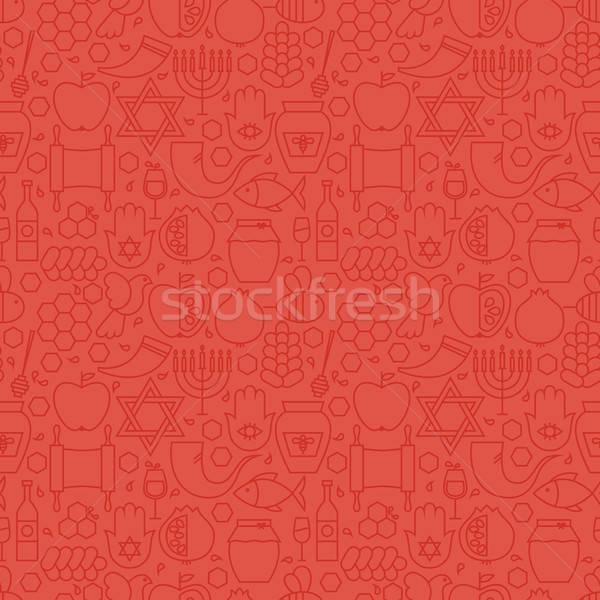 Dun vakantie lijn nieuwjaar Rood Stockfoto © Anna_leni