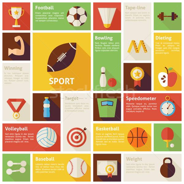 Design vecteur icônes sport Photo stock © Anna_leni