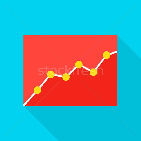 Data Analytics Flat Icon Stock photo © Anna_leni