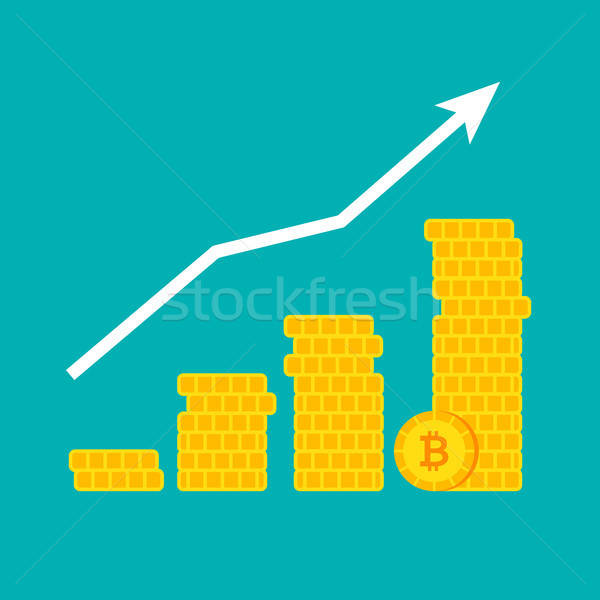 Bitcoin деньги роста графа финансовых диаграмма Сток-фото © Anna_leni