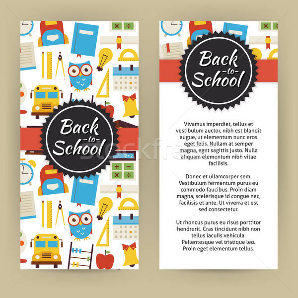 Vector Flyer Template of Flat design Back to School and Educatio Stock photo © Anna_leni