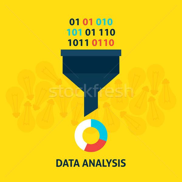 Stockfoto: Gegevens · analyse · stijl · filteren · groot · licht