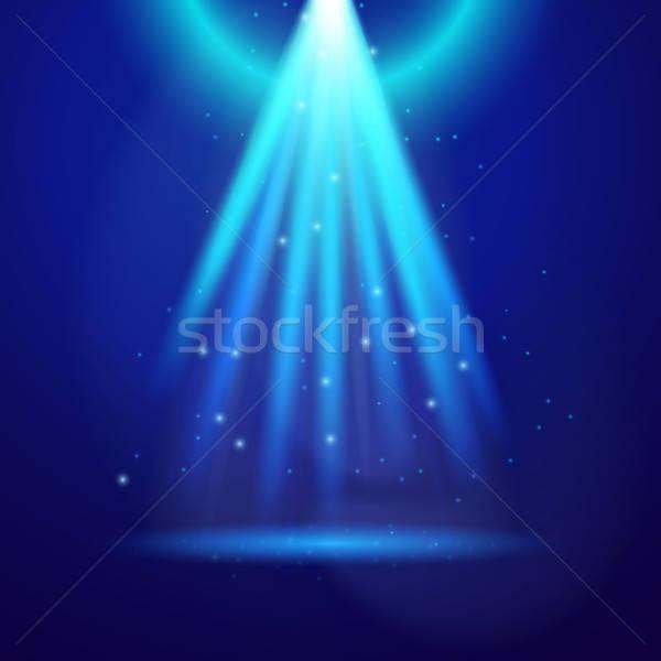 Kék csillogás világoskék fény izzó csillog Stock fotó © Anna_leni