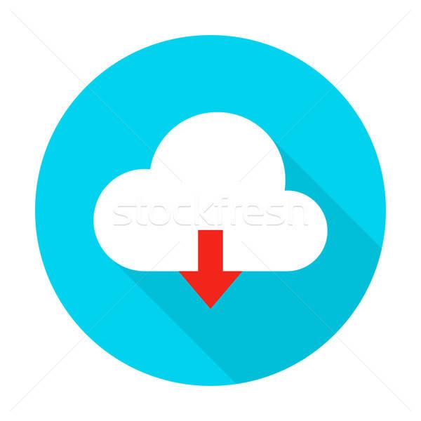 Cloud Upload Flat Circle Icon Stock photo © Anna_leni