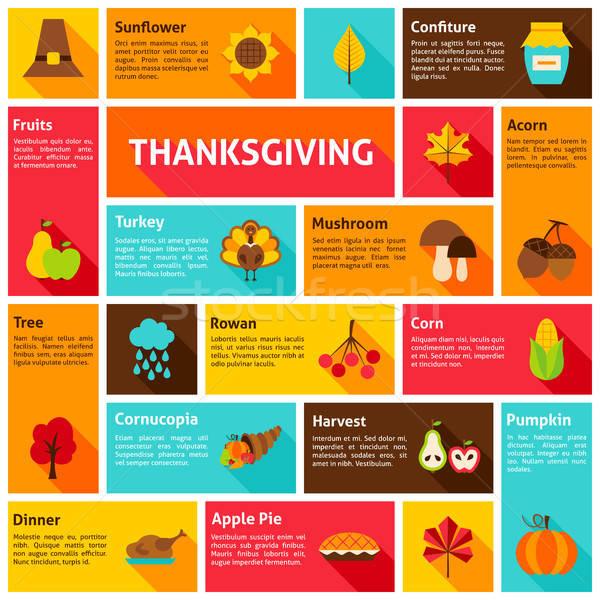 Thanksgiving Infographic Concept Stock photo © Anna_leni