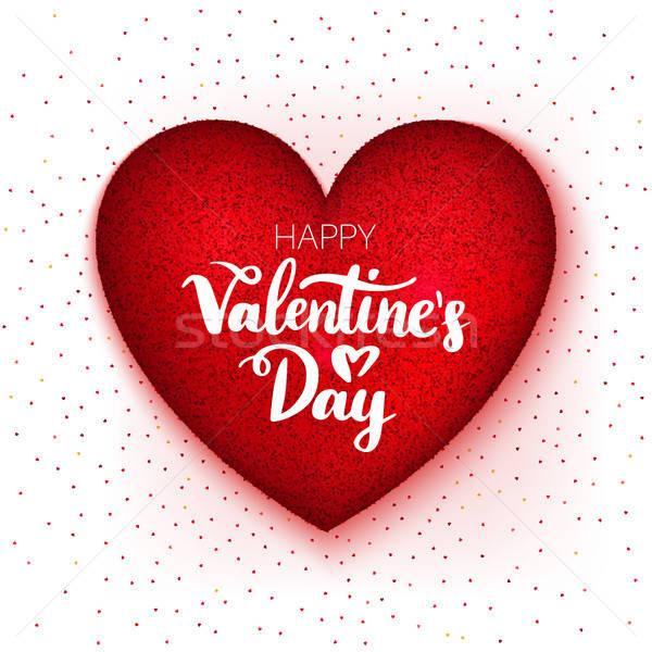 Felice san valentino giorno cuore amore vacanze Foto d'archivio © Anna_leni