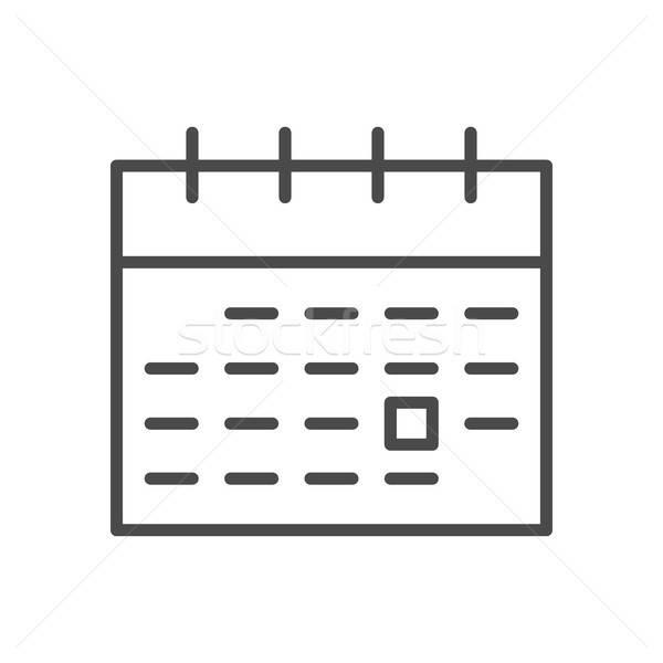 Stock fotó: Naptár · vonal · ikon · skicc · háló · szimbólum