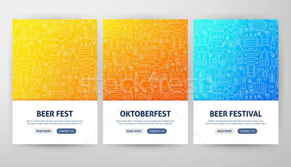 Oktoberfest szórólap fogalmak skicc háló szalag Stock fotó © Anna_leni