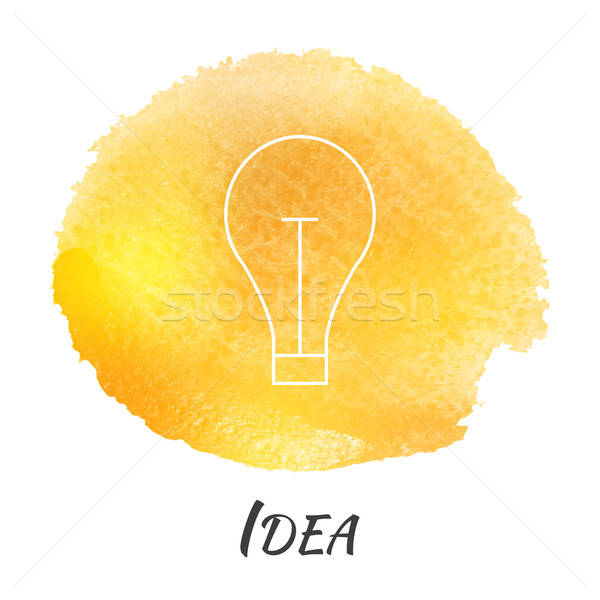 Idea Light Bulb Lamp Vector Watercolor Concept Stock photo © Anna_leni
