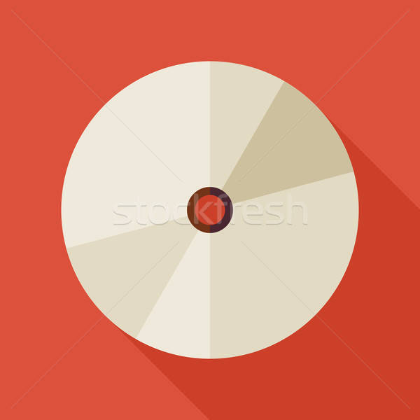 Flat Technology CD Record Disc Transport Illustration with long  Stock photo © Anna_leni