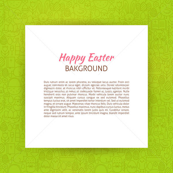 Paper over Happy Easter Line Art Background Stock photo © Anna_leni