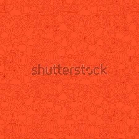 Line Red Healthy Eating Vegan Tile Pattern Stock photo © Anna_leni