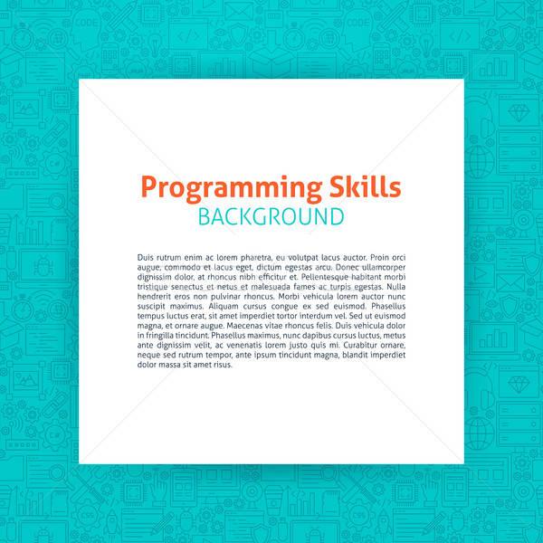 プログラミング 紙 テンプレート コーディング 資源 ストックフォト © Anna_leni