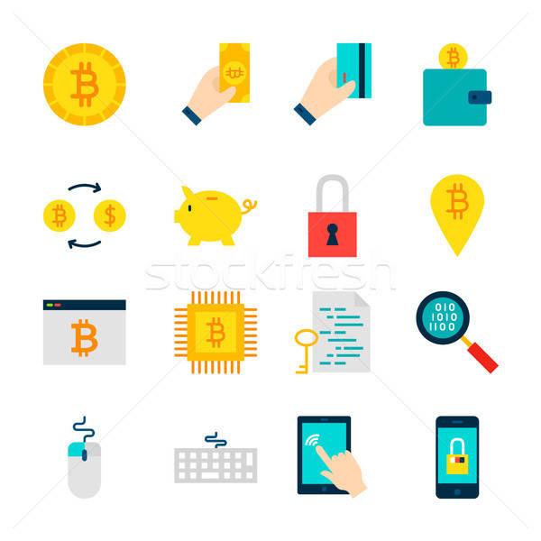 Bitcoin Cryptocurrency Objects Stock photo © Anna_leni