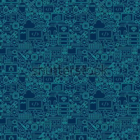 Gadgets lijn schets textuur telefoon Stockfoto © Anna_leni
