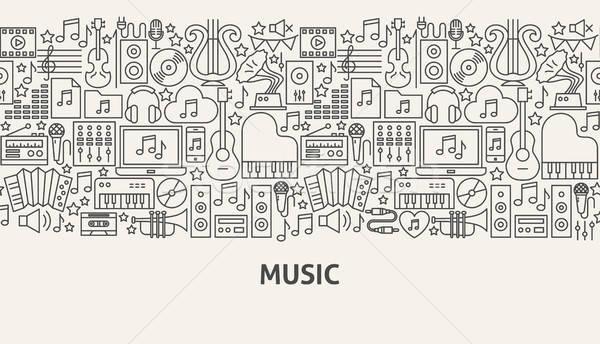 Music Banner Concept Stock photo © Anna_leni