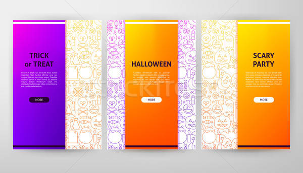Halloween Brochure Web Design Stock photo © Anna_leni