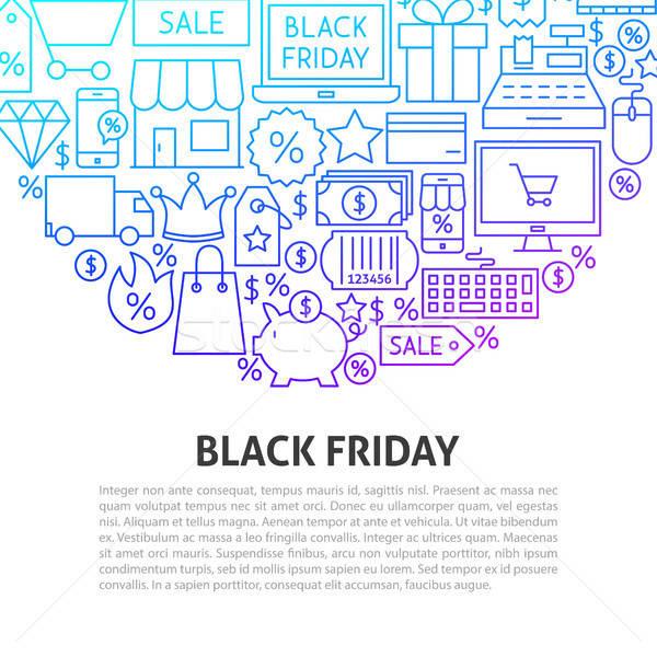 Black friday linha modelo negócio dinheiro Foto stock © Anna_leni