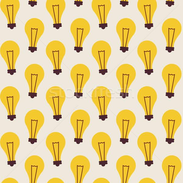 вектора бизнеса Идея лампы Сток-фото © Anna_leni