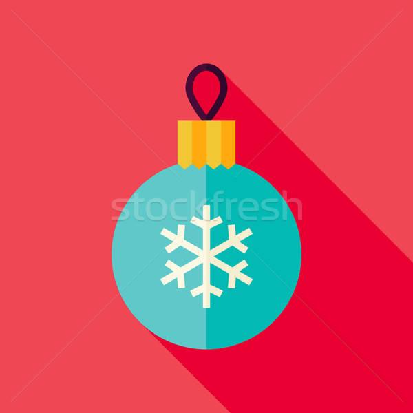 Vector diseno decorativo Navidad pelota icono Foto stock © Anna_leni