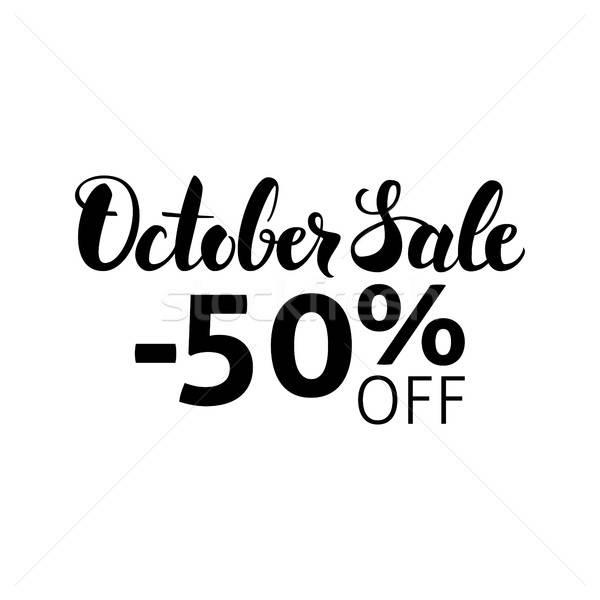 October Sale Lettering Stock photo © Anna_leni