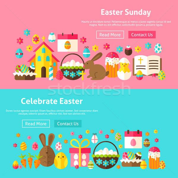 Stok fotoğraf: Paskalya · web · sitesi · afişler · web · bahar