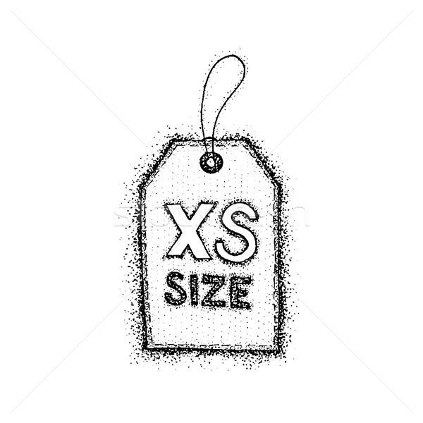 Dotwork Extra Small Size Label Stock photo © Anna_leni