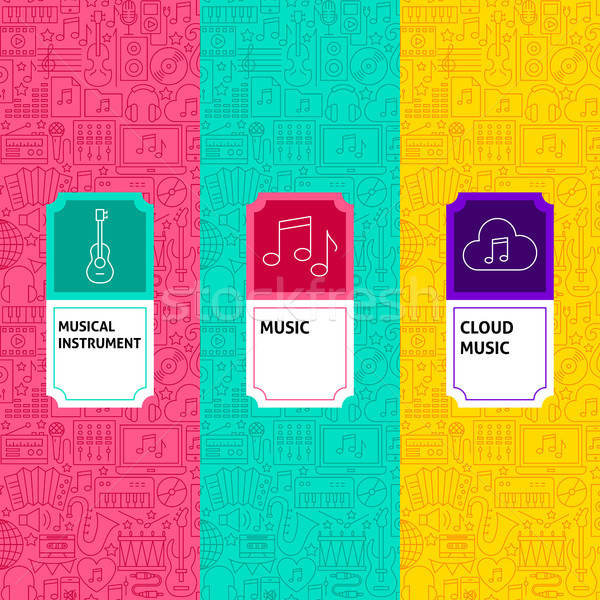 Line Music Package Labels Stock photo © Anna_leni