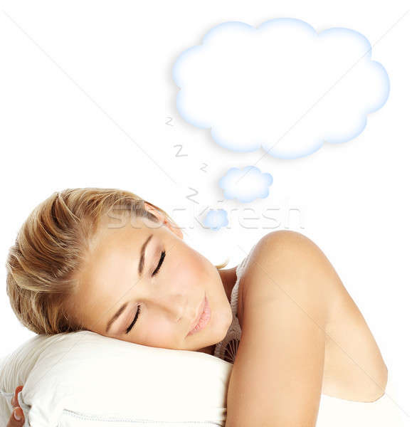 Sleeping girl Stock photo © Anna_Om