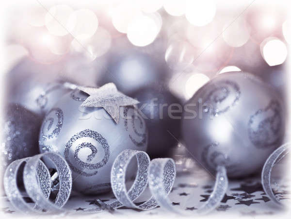 Christmas tree bauble ornament and decoration Stock photo © Anna_Om
