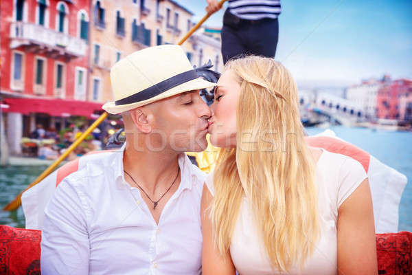 Happy couple in honeymoon Stock photo © Anna_Om