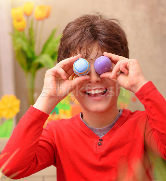 Happy boy anticipate Easter Stock photo © Anna_Om