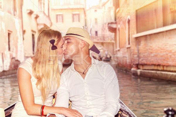 нежный пару любви новобрачный целоваться Сток-фото © Anna_Om