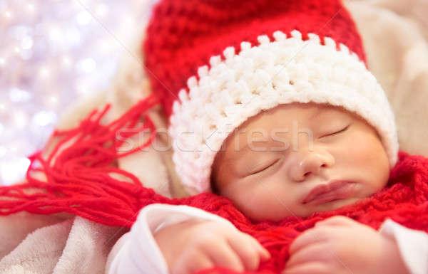 Sweet baby sleeping in Christmas costume Stock photo © Anna_Om