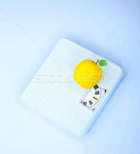 Scales and apple Stock photo © Anna_Om