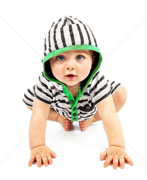 Jongen geïsoleerd witte zoete weinig baby Stockfoto © Anna_Om