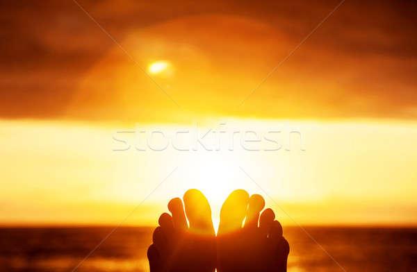 Peaceful sunset Stock photo © Anna_Om