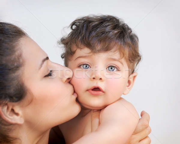 Feliz mãe bebê retrato alegre Foto stock © Anna_Om