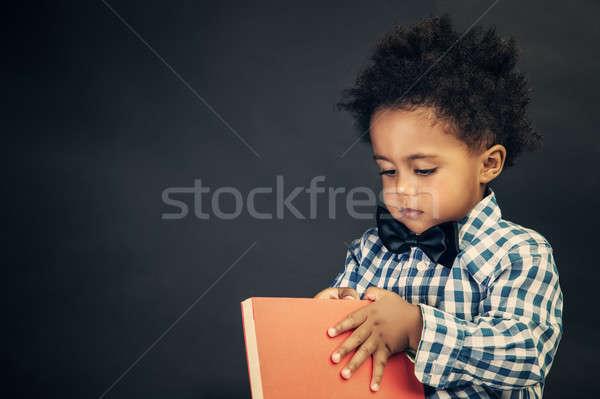 Little school boy Stock photo © Anna_Om