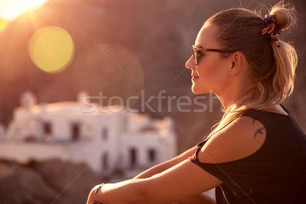 Active traveler girl Stock photo © Anna_Om