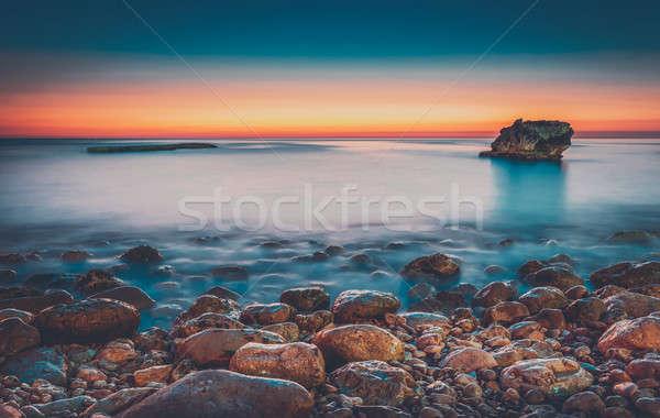 красивой закат морем удивительный пейзаж Сток-фото © Anna_Om