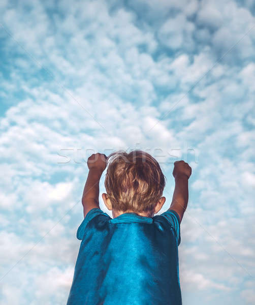 Süper kahraman erkek küçük süper kahraman Stok fotoğraf © Anna_Om
