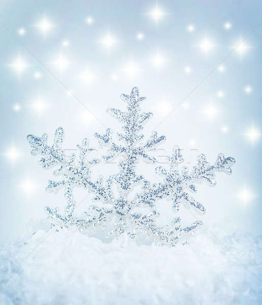 Snowflake background Stock photo © Anna_Om