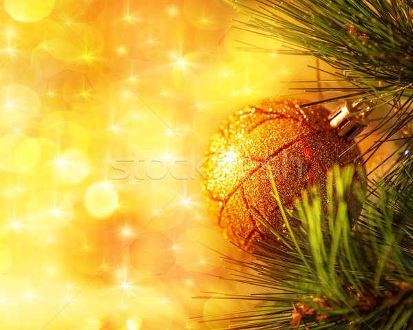 Christmas tree branch Stock photo © Anna_Om
