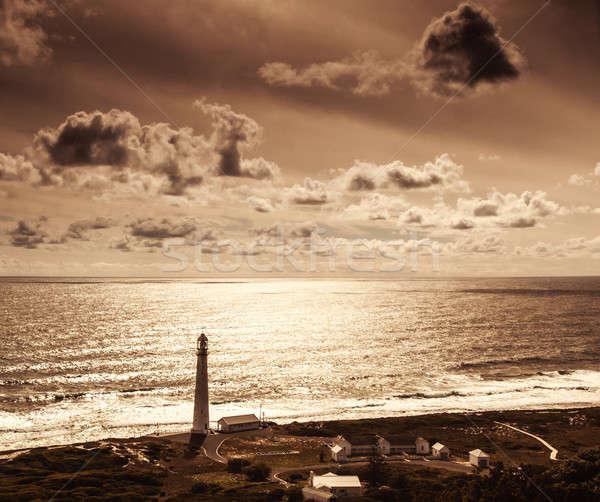 Lighthouse over sunset Stock photo © Anna_Om
