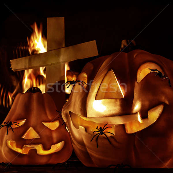 Halloween decorations Stock photo © Anna_Om
